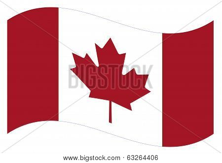 Vector flag. Canada