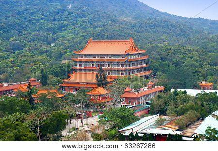 Po Lin Nunnery on the Lantau Island of Hong Kong