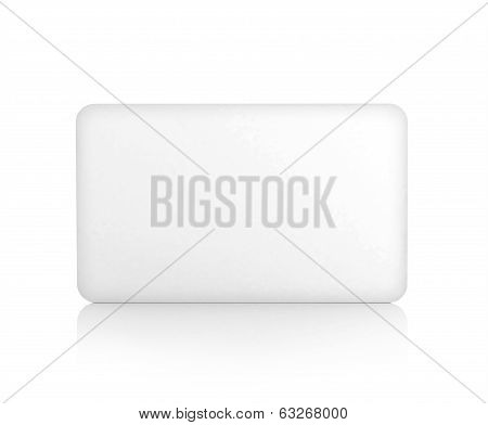 empty white display, isolated on white
