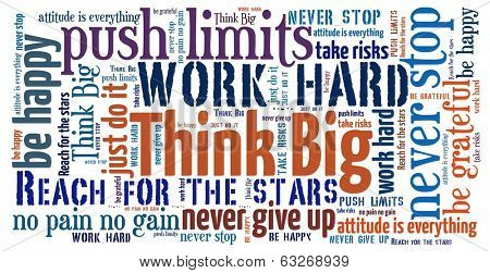 Think Big in word collage