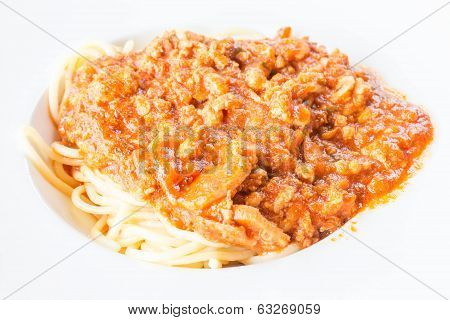 Close Up Spaghetti Tomato Sauce