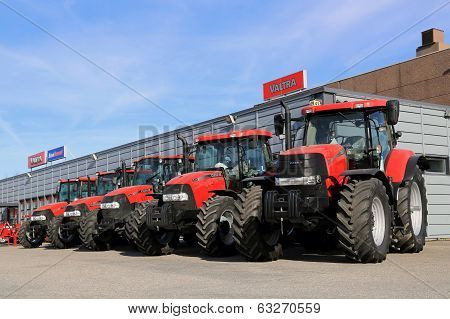 Row Of Case IH Agricultural Tractors