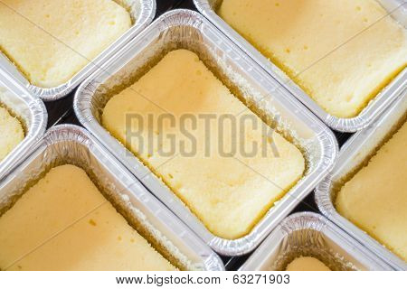 Square Box Of Cheese Base Cake