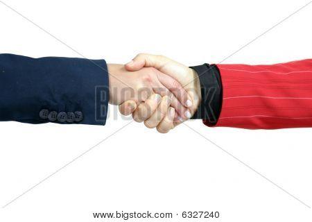 Negócios Shake mão