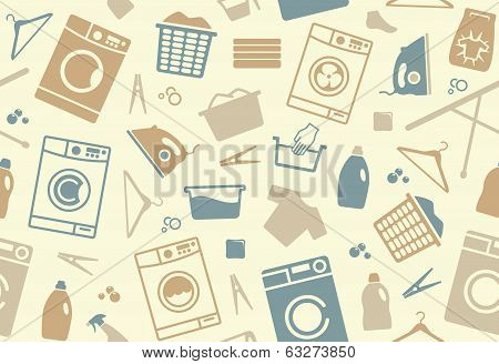 Seamless background of a laundry