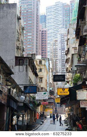 Peel street of Hong Kong