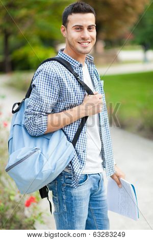 Smiling student at the park