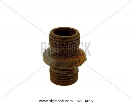 Old Rusty Steel Pipe