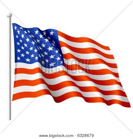 Flagge der Usa. Vektor-Illustration.