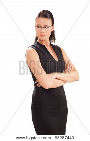 Business Woman On The White Background