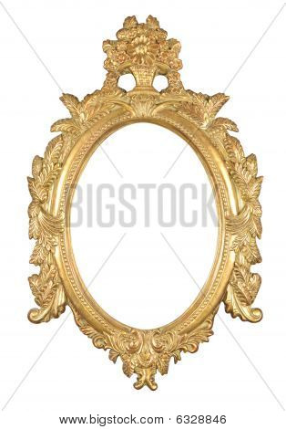 Isolated Oval Bronze Frame