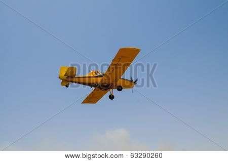 Yellow firefighter plane