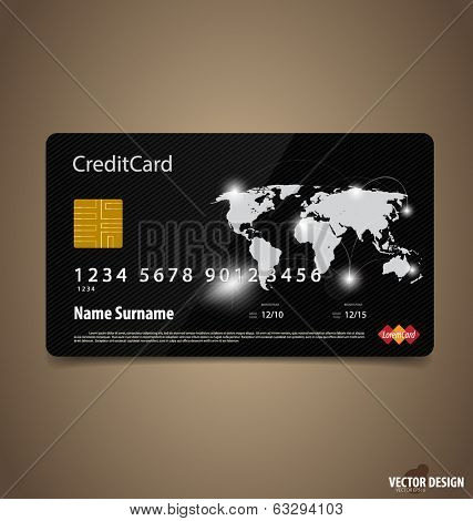 Credit Card. Vector illustration.