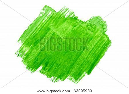 paint smear on an isolated white background