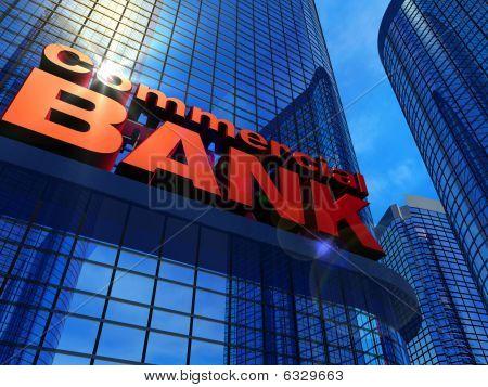 Modern corporate buildings