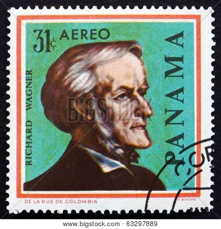 Postage Stamp Panama 1966 Richard Wagner, German Composer