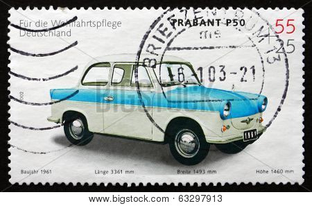 Postage Stamp Germany 2002 Trabant P50, 1961, Automobile