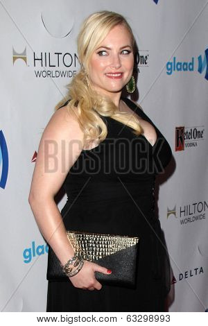 LOS ANGELES - APR 12:  Meghan McCain at the GLAAD Media Awards at Beverly Hilton Hotel on April 12, 2014 in Beverly Hills, CA