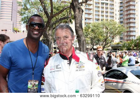 LOS ANGELES - APR 12:  Brian McKnight, Eric Braeden at the Long Beach Grand Prix Pro/Celeb Race Day at the Long Beach Grand Prix Race Circuit on April 12, 2014 in Long Beach, CA