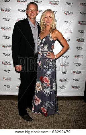 LOS ANGELES - APR 11:  Cole Hauser, Cynthia Daniel at the Long Beach Grand Prix Foundation Gala at Westin Hotel on April 11, 2014 in Long Beach, CA