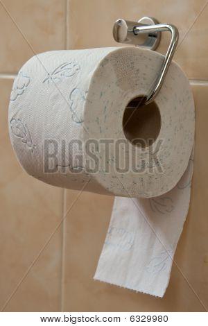 Toilet Roll Holder In Bathroom