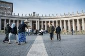 Tourist And Pilgrims In San Peter's Square