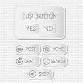 Web Interface With Button. Menu Template