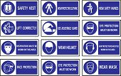 picture of industrial safety  - Mandatory signs Construction health and safety sign used in industrial applications - JPG