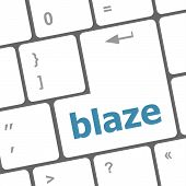 Blaze Word On Keyboard Key, Notebook Computer Button