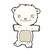 cartoon polar bear cub