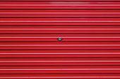 stock photo of roller shutter door  - red roller shutter - JPG