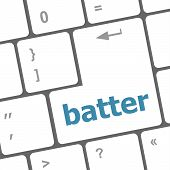 Batter Word On Keyboard Key, Notebook Computer Button