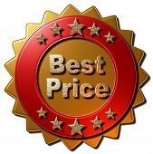 Gold & Red Metal Best Price Seal