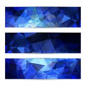 Space blue banners or invitation templates