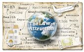stock photo of laws-of-attraction  - World of Law of Attraction on Old Paper - JPG