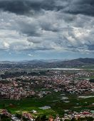 Panoramic shot of the suburbs of the city of Antananarivo, Madagascar