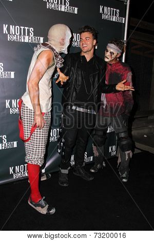 LOS ANGELES - OCT 3:  Josh Golden at the Knott's Scary Farm Celebrity VIP Opening  at Knott's Berry Farm on October 3, 2014 in Buena Park, CA