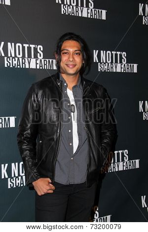 LOS ANGELES - OCT 3:  Abhi Sinha at the Knott's Scary Farm Celebrity VIP Opening  at Knott's Berry Farm on October 3, 2014 in Buena Park, CA