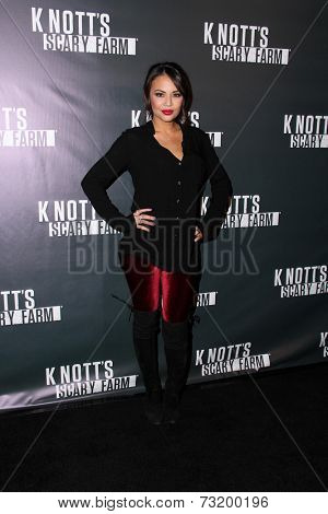 LOS ANGELES - OCT 3:  Janel Parrish at the Knott's Scary Farm Celebrity VIP Opening  at Knott's Berry Farm on October 3, 2014 in Buena Park, CA