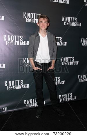 LOS ANGELES - OCT 3:  Dylan Riley Snyder at the Knott's Scary Farm Celebrity VIP Opening  at Knott's Berry Farm on October 3, 2014 in Buena Park, CA