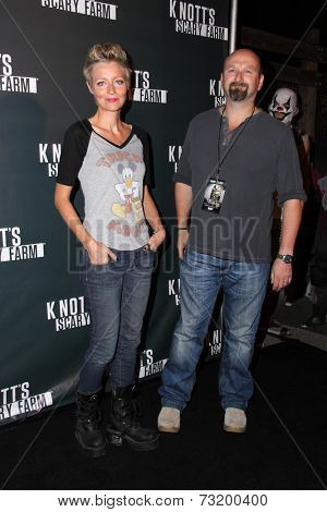 LOS ANGELES - OCT 3:  Axelle Carolyn, Neil Marshall at the Knott's Scary Farm Celebrity VIP Opening  at Knott's Berry Farm on October 3, 2014 in Buena Park, CA