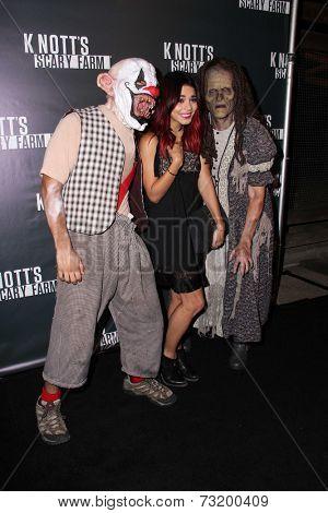 LOS ANGELES - OCT 3:  Vanessa Hudgens at the Knott's Scary Farm Celebrity VIP Opening  at Knott's Berry Farm on October 3, 2014 in Buena Park, CA