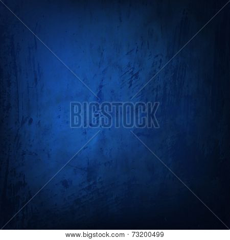 Blue Grunge Texture With Gradient Mesh, Vector Illustration