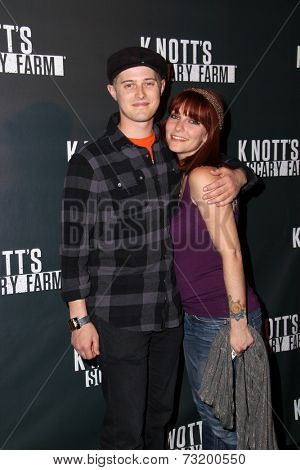 LOS ANGELES - OCT 3:  Lucas Grabeel, Emily Morris at the Knott's Scary Farm Celebrity VIP Opening  at Knott's Berry Farm on October 3, 2014 in Buena Park, CA