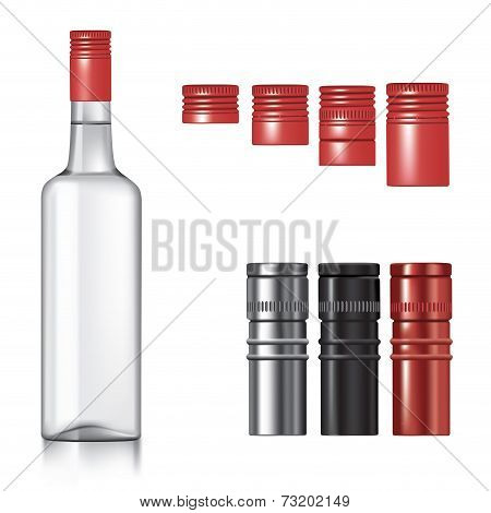 Vodka Bottle With Caps