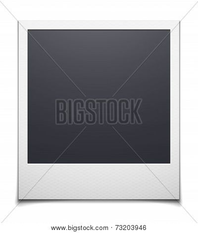 Retro photo frame isolated on white background