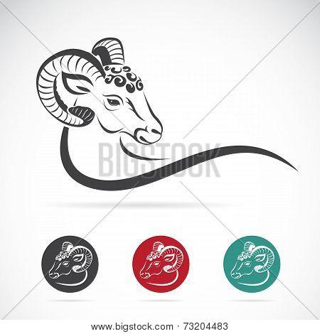 Vector Image Of An Sheep Head
