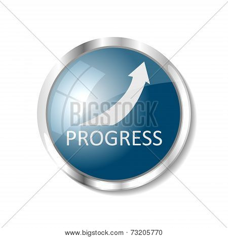 Blue Web Button