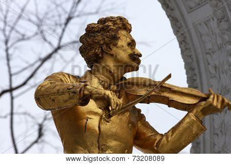 Strauss Monument In Vienna