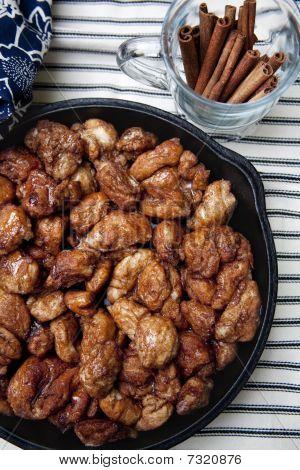 Cinnamon Rolls With Cinnamon Stick Garnish